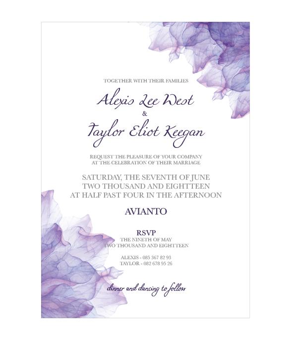 Purple Haze E-Invite