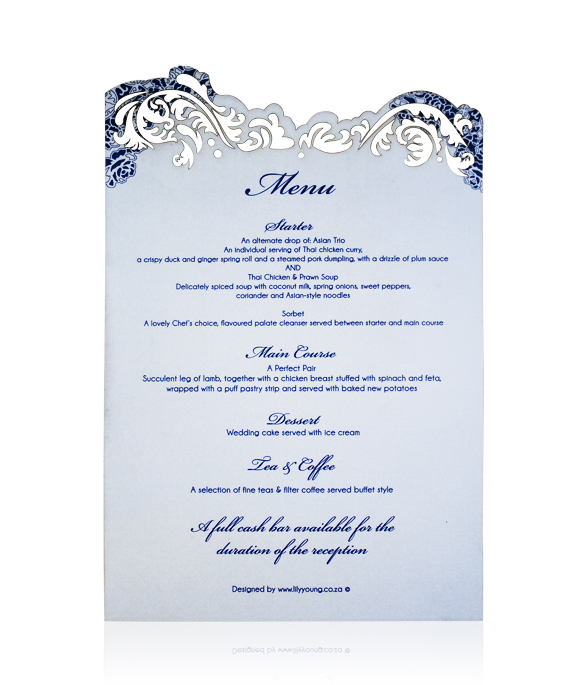 White Ivy Menu