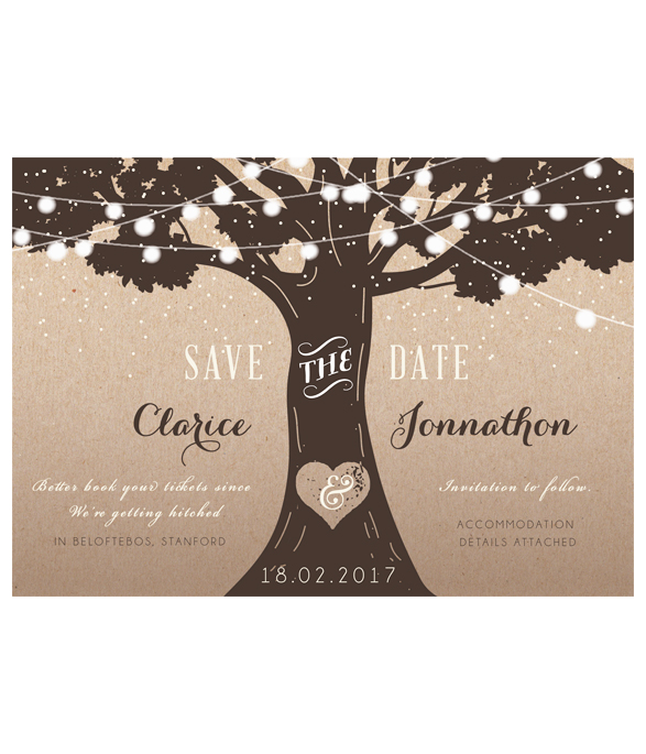 E-Save the date Wedding Lights