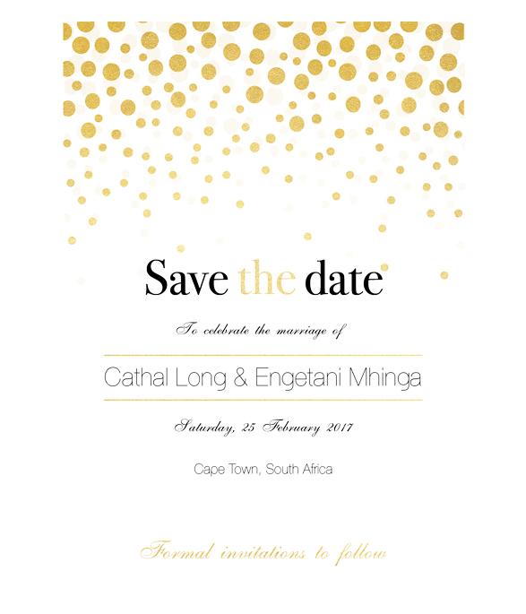 Golden Bubbles E-Save the date