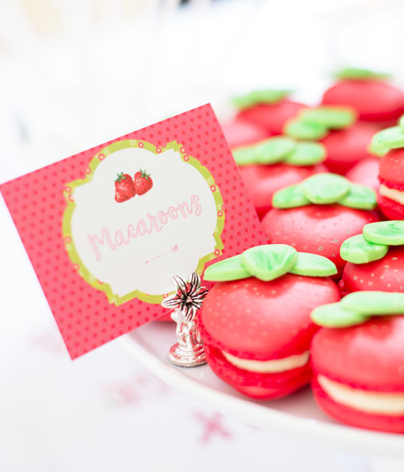 Strawberry Party Food sign