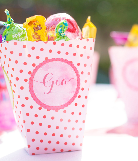 Strawberry Party Popcorn boxes