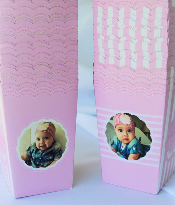 Pink Party Popcorn Boxes