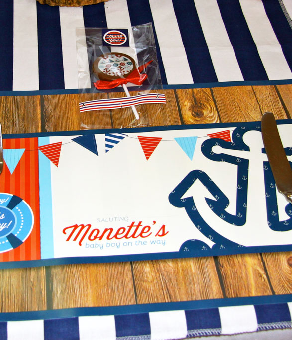 Nautical Party Under plates