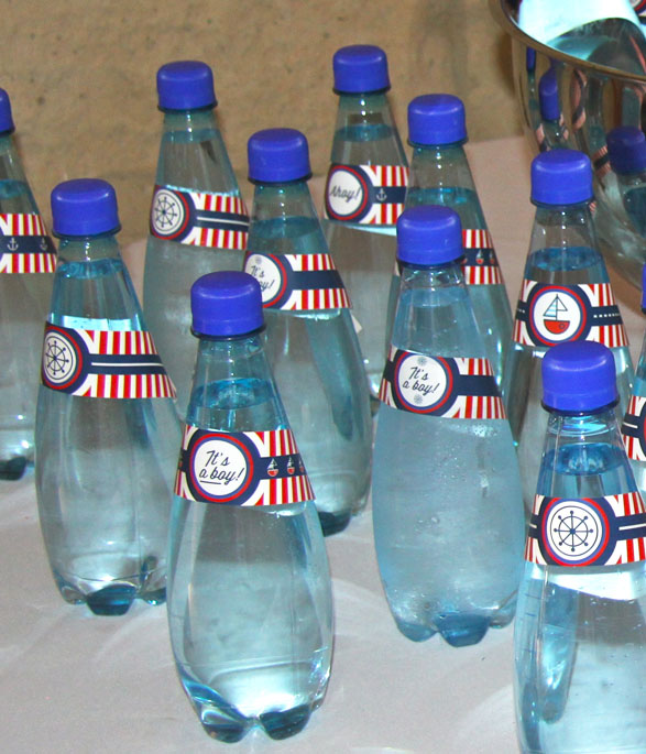 Nautical Party Water Bottle stickers
