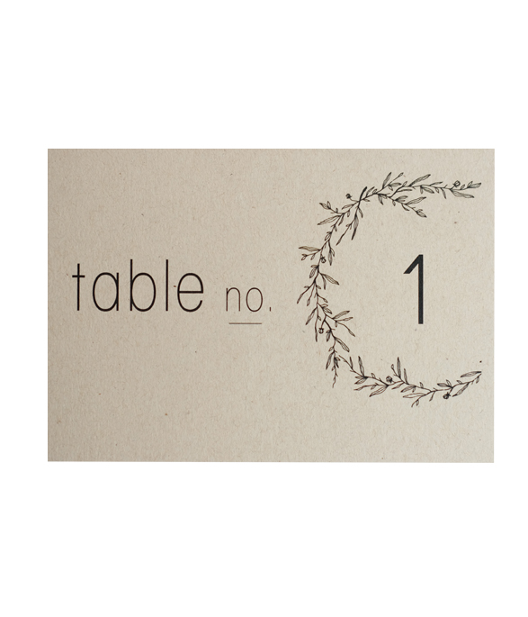 K&T Table number