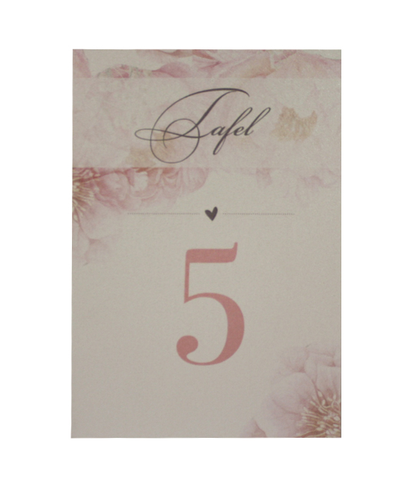 Pink Tulip Table Number