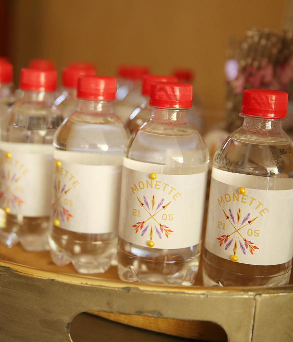 Boho Party Water Bottle stickers