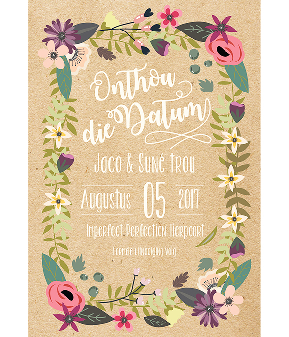 Dancing Dahlia E-Save the date